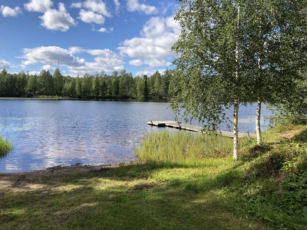 Airakselan uimaranta Jussiltantiellä.